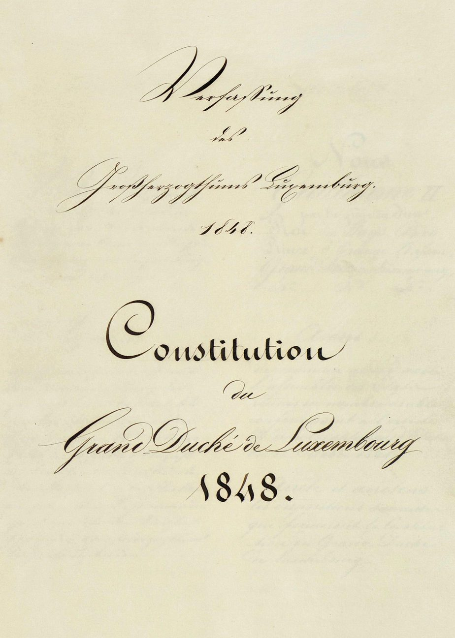 Constitution of Luxembourg