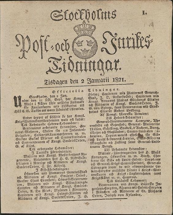 Post- och Inrikes Tidningar