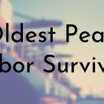 Oldest Pearl Harbor Survivors
