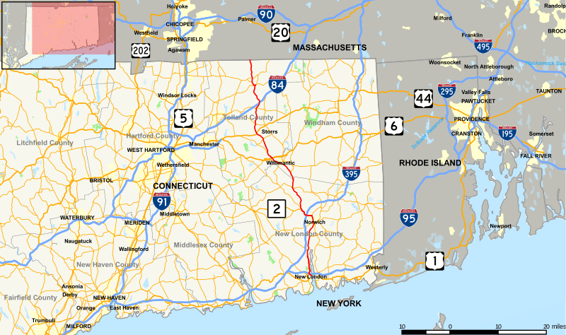 Connecticut Route 32 (Mohegan Road)