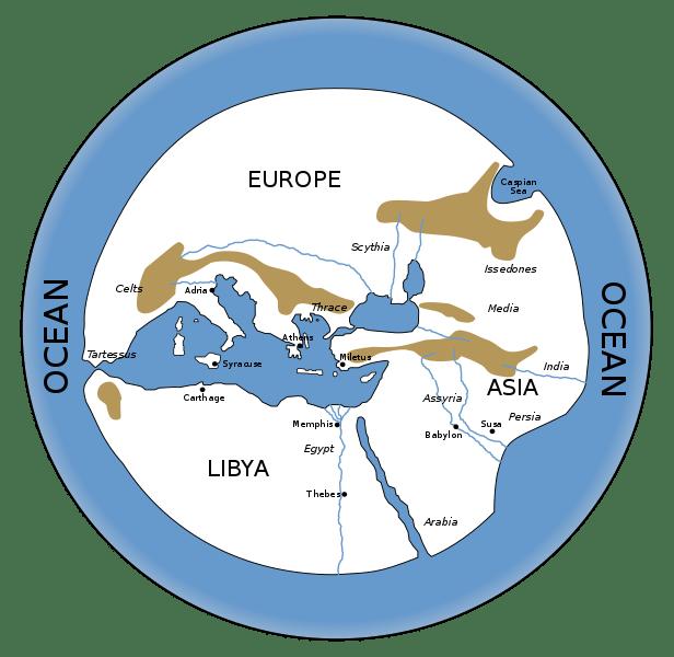 Hecataceus' Map