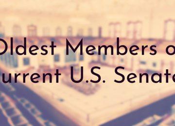 Oldest Members of Current U.S. Senate