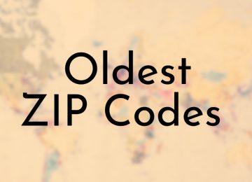 Oldest ZIP Codes