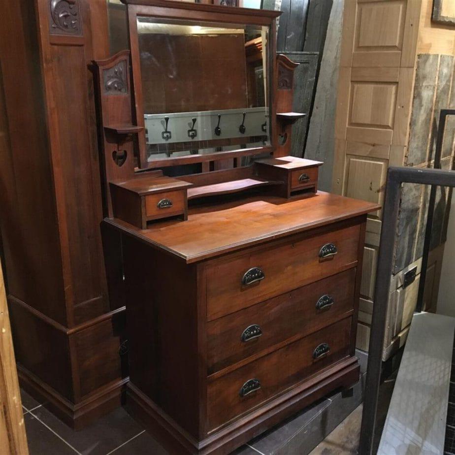 Antique Walnut Dressing Table