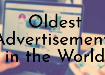 Oldest Advertisements in the World