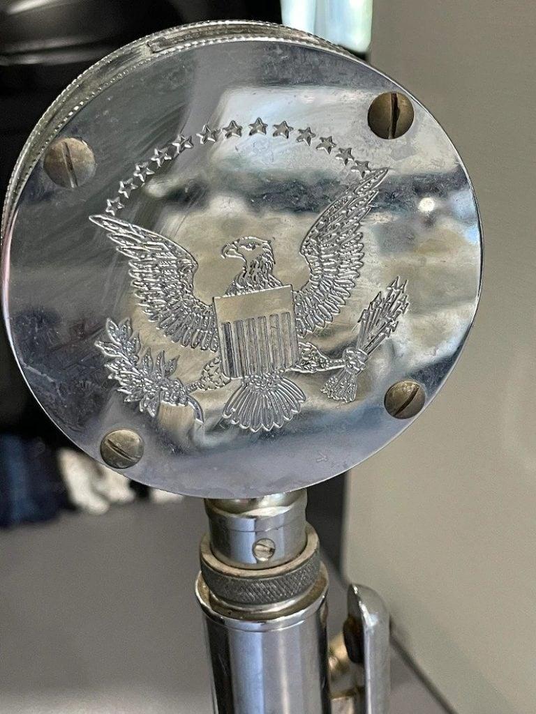 1950's Astatic Corp. Lollipop Silver Eagle Microphone