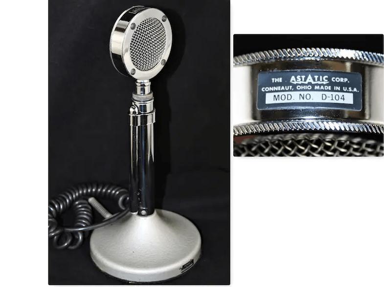 Vintage 1950s Astatic Microphone Model D104 Crystal