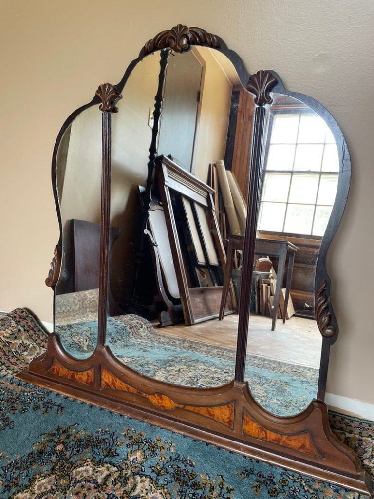 Salvaged Vanity Mirror