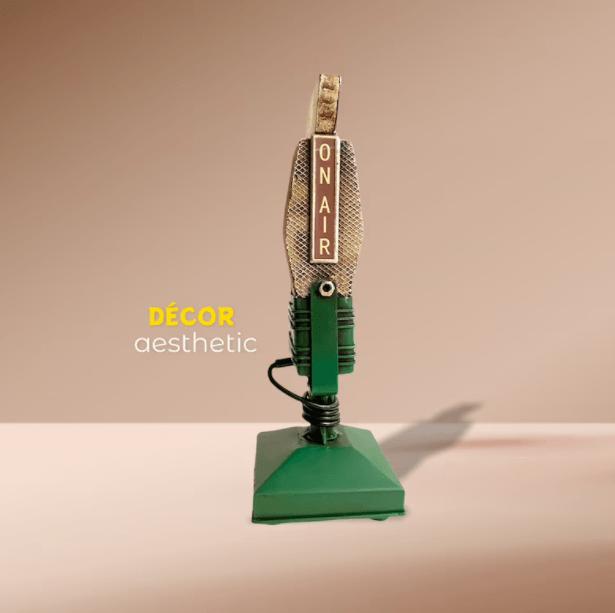 Microphone, Retro Microphone, Tabletop Adornment