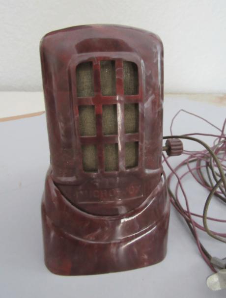 Vintage Micro-Vox Bakelite Radio Microphone Transmitter 1930s