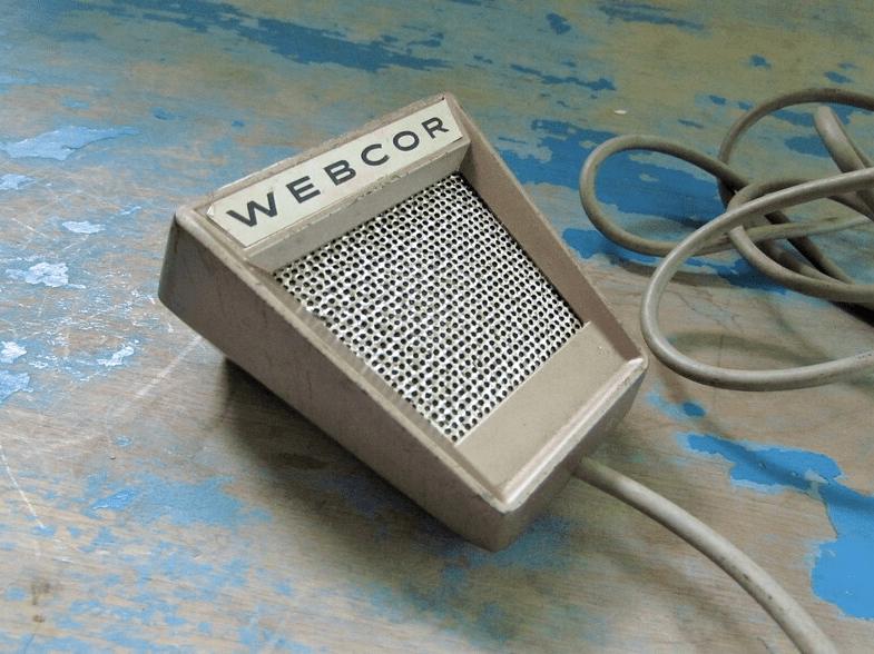 Webcor Vintage Handheld Microphone
