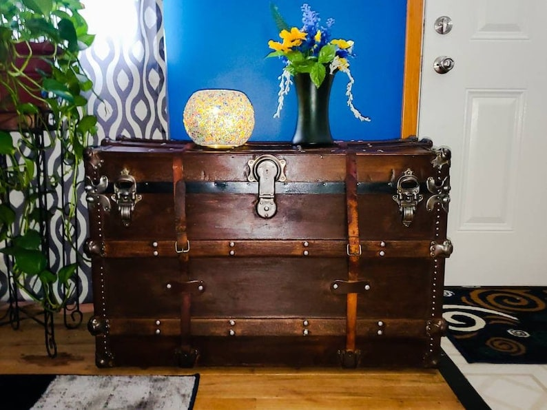 Late 19th-Century Steamer Trunk