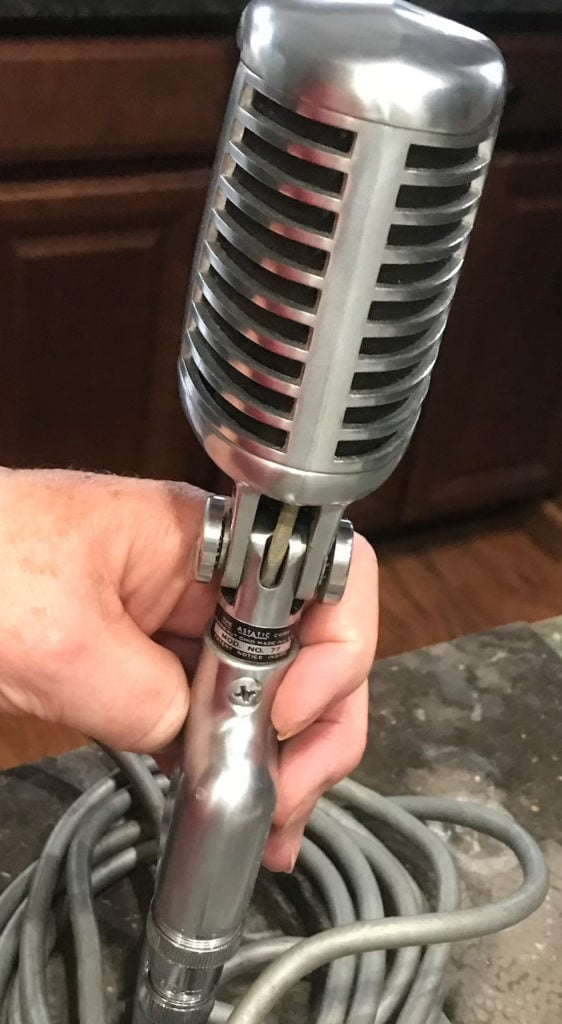 Vintage 1950's Astatic Microphone Model No. 77 with 3 Prong Cord