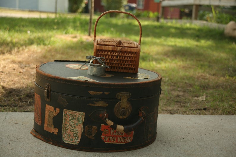 Leather Hatbox