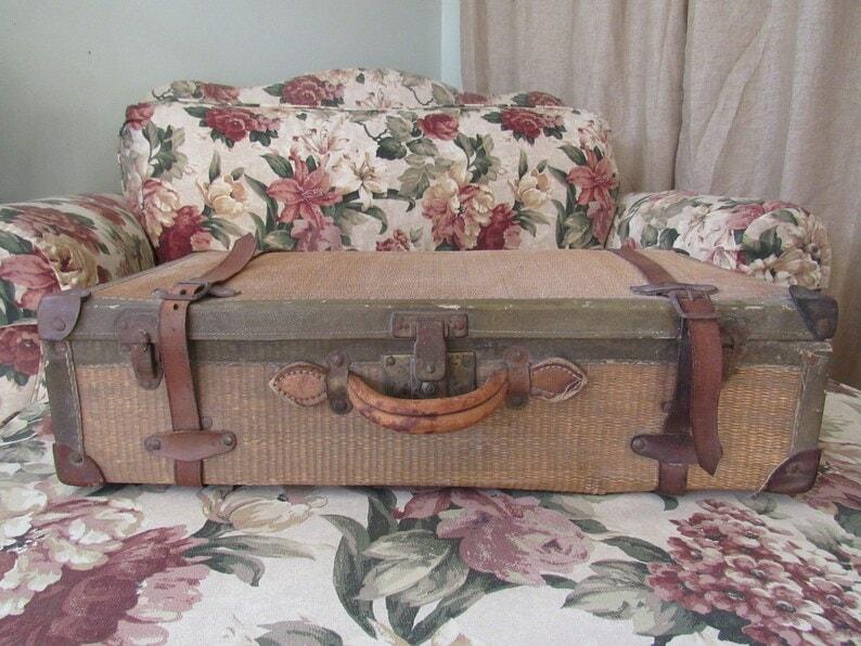 Straw Suitcase