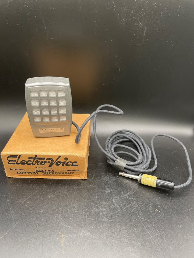 1950's Electro-Voice Crystal Microphone Model 915 Buchanan Michigan