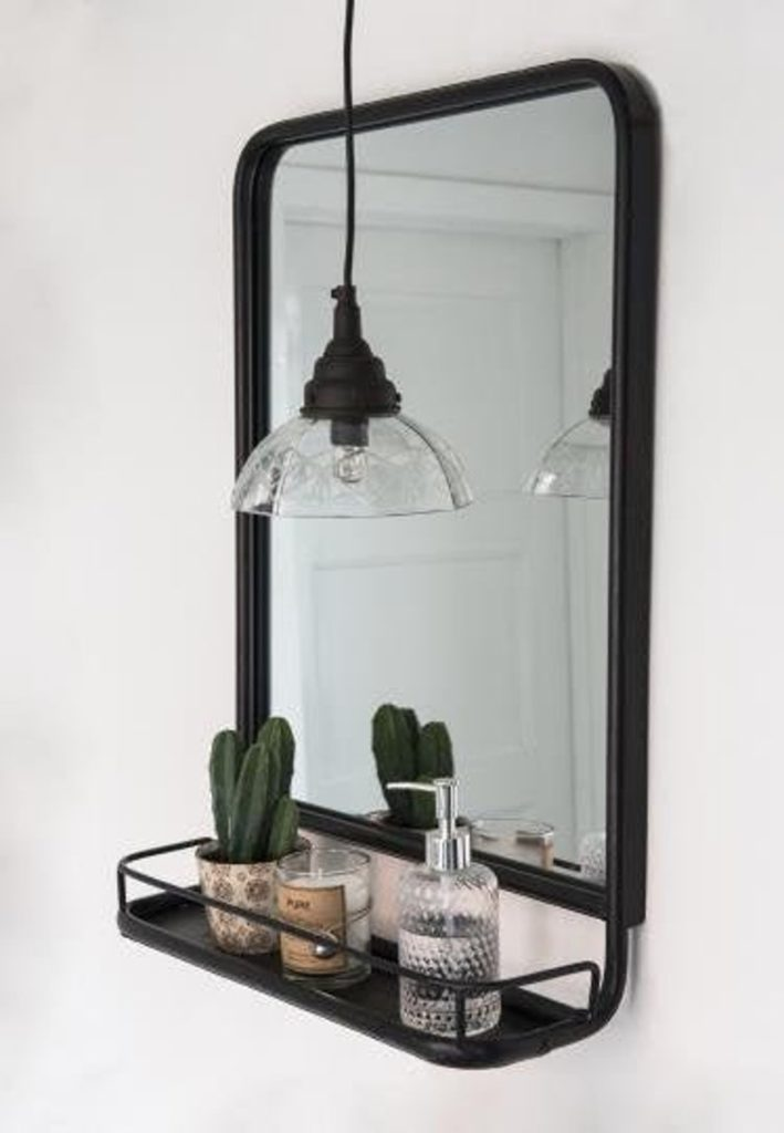 Industrial Shelved Mirror