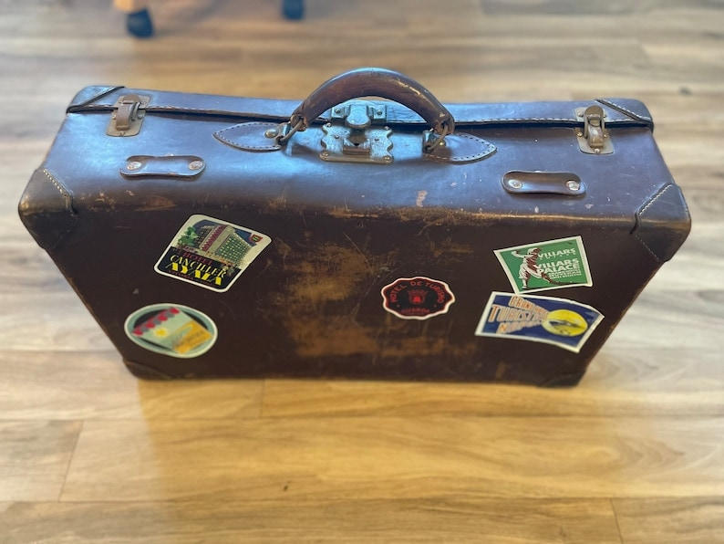 Leather Train Trunk