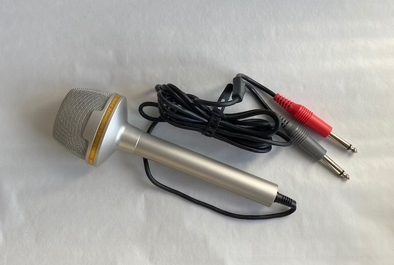 Vintage Realistic 1970's Electret Condenser Stereo Microphone 33-919A