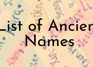 List of Ancient Names