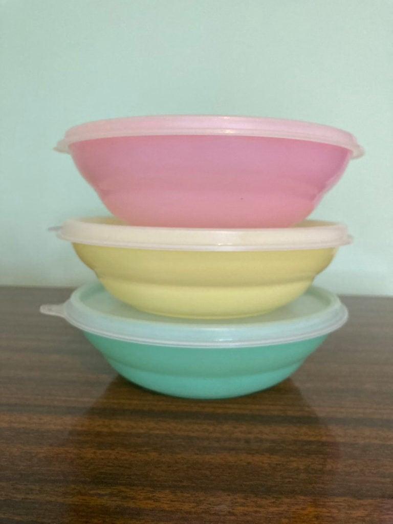 Set of Three Vintage Tupperware Lidded Bowls