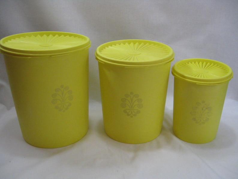 Three Vintage Tupperware Canister Set