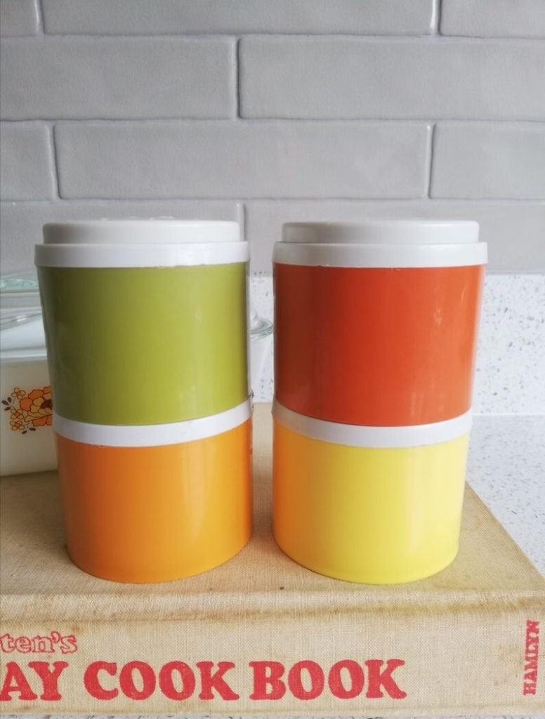 Tupperware 1970s Spice Stackers