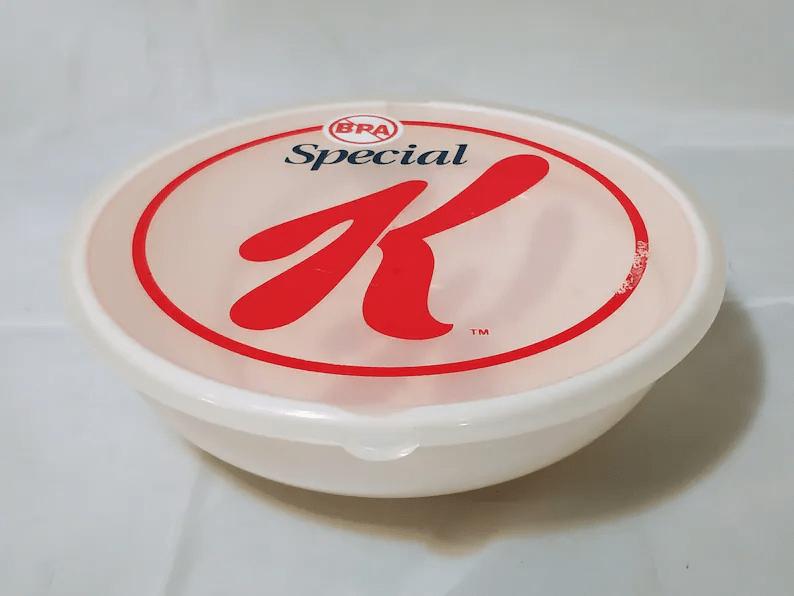 Vintage Kellog's Special K Promotional Cereal Bowl with Lid