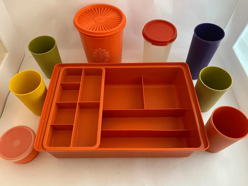 Vintage Mixed Lot Tupperware 1970's