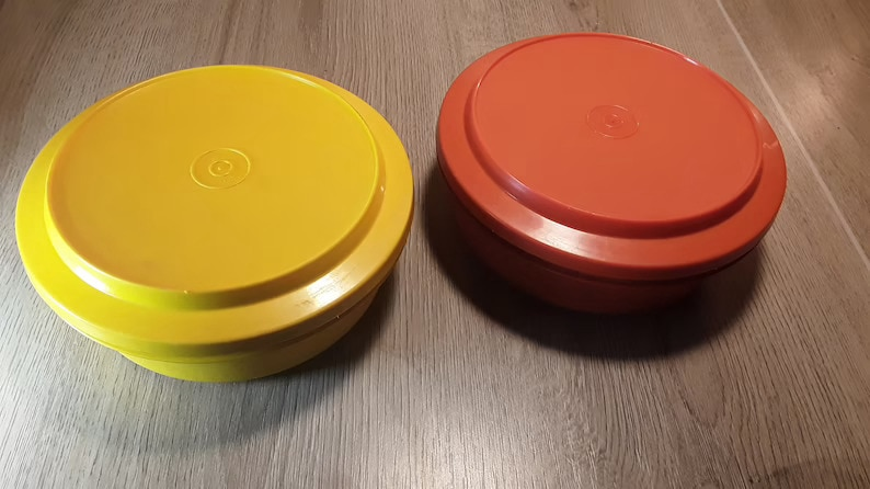 Vintage Tupperware Containers Set of 2