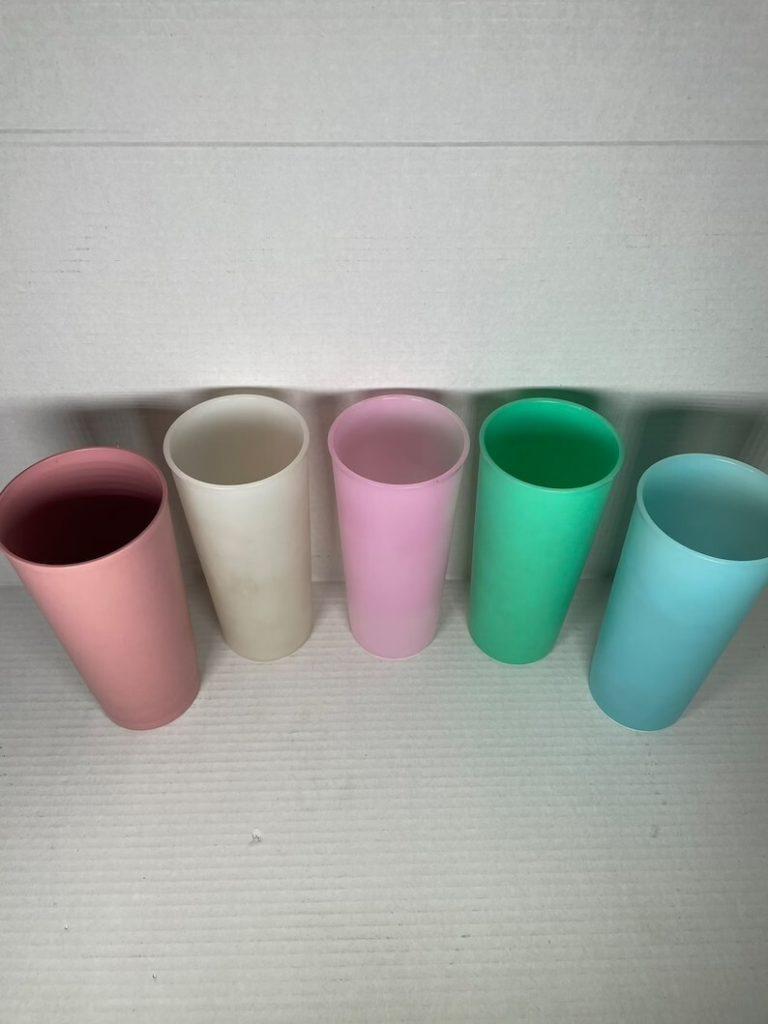 Vintage Tupperware Plastic Cups Set of 5