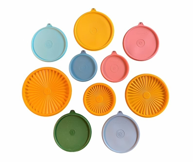 Vintage Tupperware Round Replacement Lids