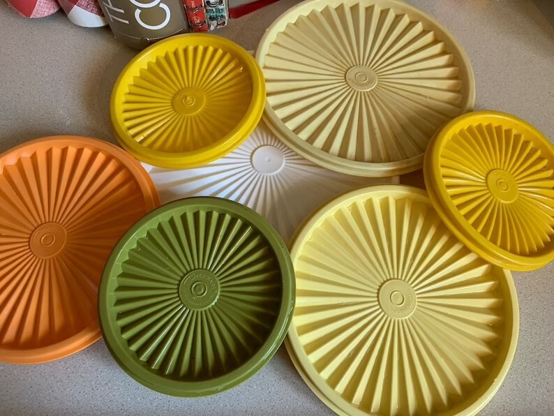Vintage Tupperware Servalier Lids-various Color and Size-sold Individually