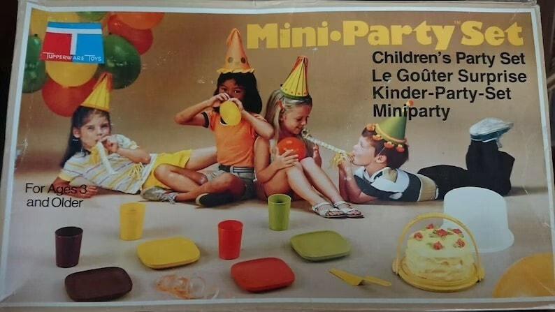 Vintage Tupperware Toys Mini Party Set 10 Piece For Children