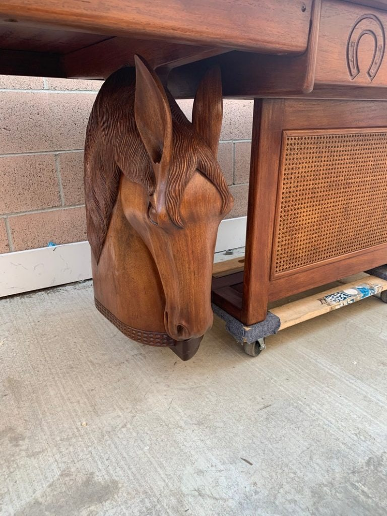 Carved Wood Horses