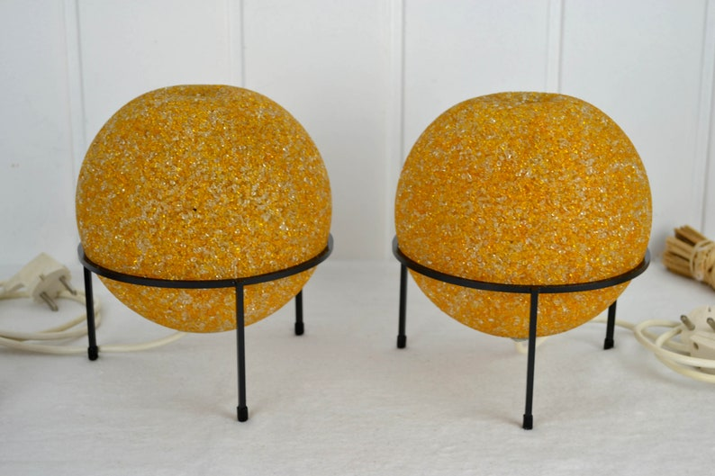 2 Table Lamps Ball Lamps Bedside Lamps