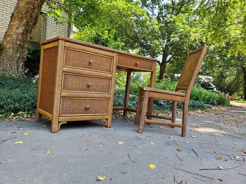 Henry Link Wicker Desk & Chair