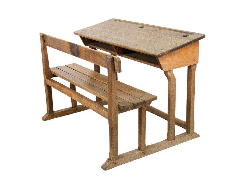 Country Oak School Desk