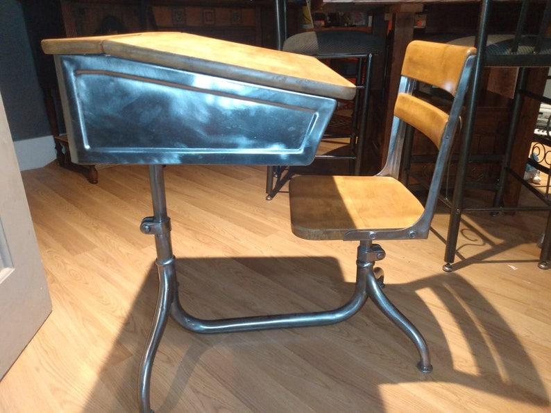 Restored American Seating Company Desk