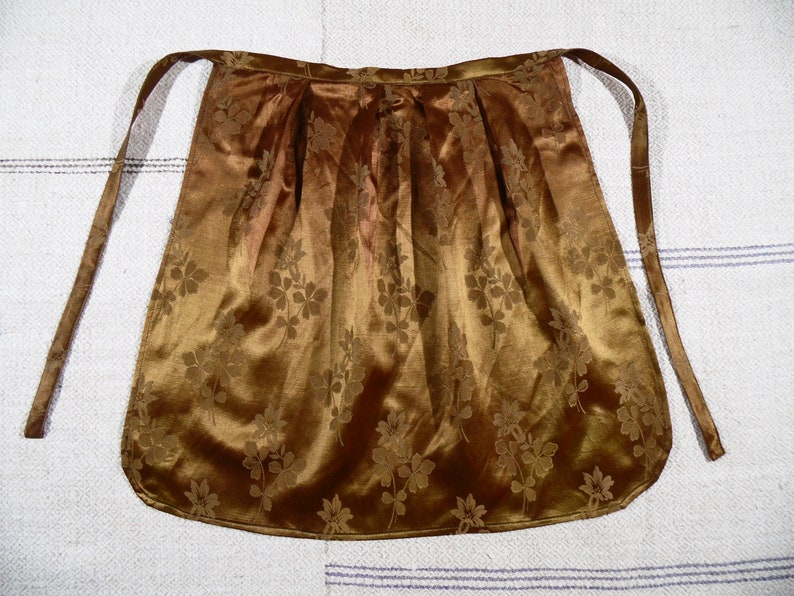 Antique Silk Apron Ukrainian Apron