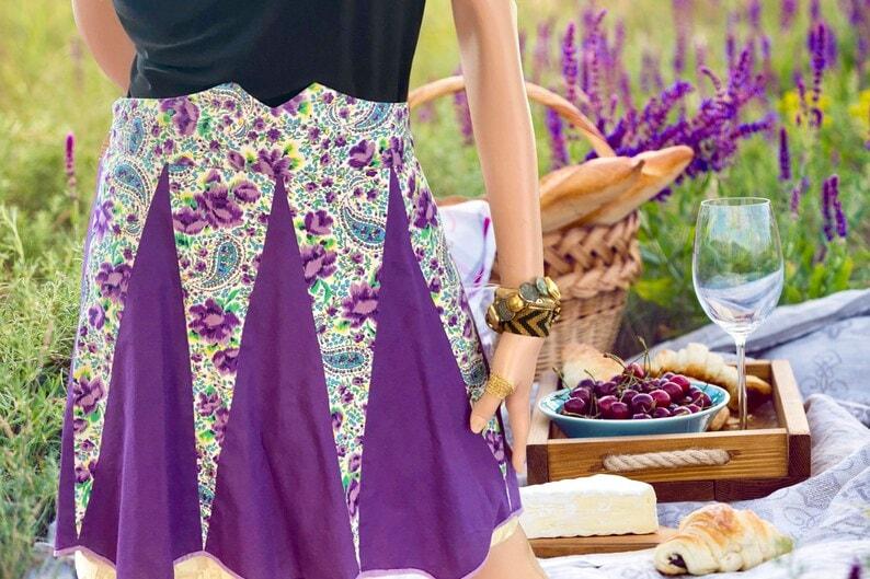 Purple Vintage Apron
