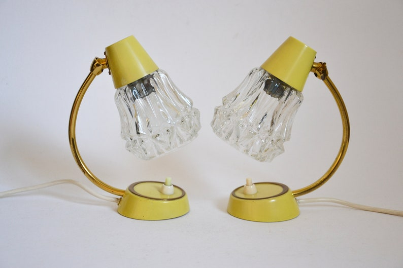 Table Lamp Wall Lamp Mid Century Bedside Lamps Yellow Pastel