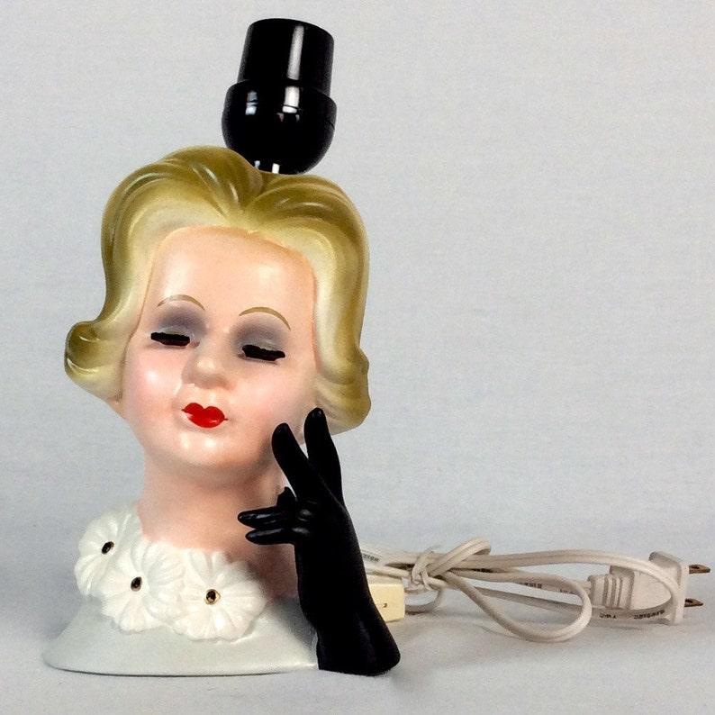 Vintage 1970s Lady Head Lamp