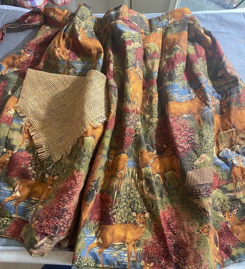 Vintage Apron burlap pocket