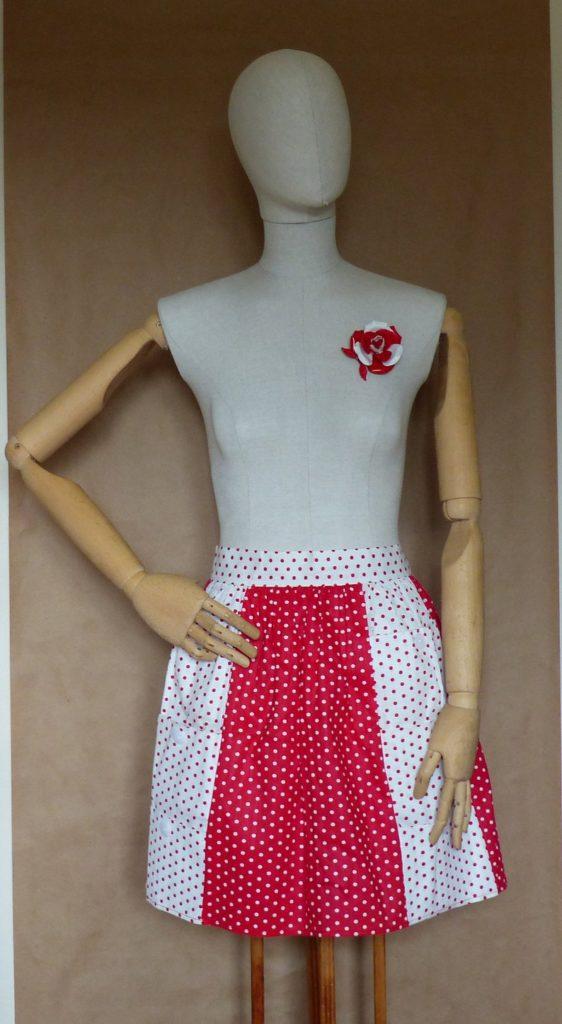Vintage Red & White Polka Dot Half Apron